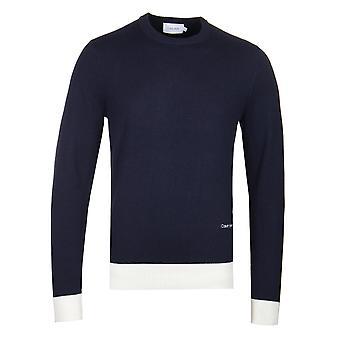 Calvin Klein Luxury Villa Cashmere tummansininen pusero