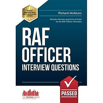 RAF OFFICER INTERVIEW QUESTIONS - The ULTIMATE guide to passing the RAF Officer Aircrew Selection Centre interview...