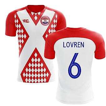 2018-2019 Croatia Fans Culture Home Concept Shirt (Lovren 6)