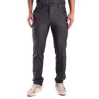 Bikkembergs Ezbc101025 Men's Black Cotton Pants