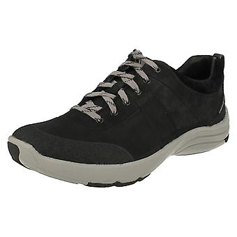 Ladies Clarks Active Wear Weatherproof Lace Up Casual Shoes Wave Andes