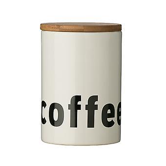 Premier Housewares Mono Kaffee Kanister, weißen schwarzen Text