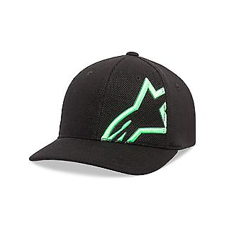 Alpinestars Мужская макет сетки кривой Cap ~ Corp Shift черный/зеленый