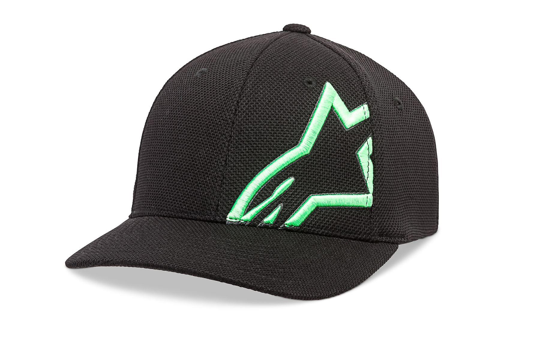 Alpinestars Mens Mock Mesh Curve Cap ~ Corp Shift black/green