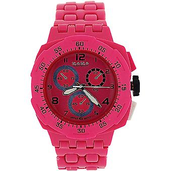 Zaza London Pink Chrono Effect Ladies Gents Plastic  Bracelet Strap WatchPL342