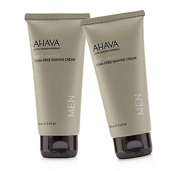 Ahava Time To Energize Foam-free Shaving Cream (travel Size) Duo Pack - 2x100ml/3.4oz