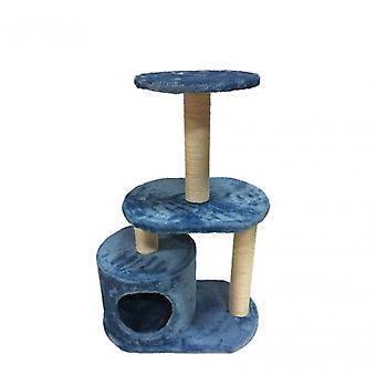 Luckypet trekt boom blauw katten spel beige sisal Fun 75x50x30