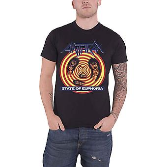 Miltvuur T Shirt staat van euforie Album Cover Band Logo officiële Mens nieuwe zwart