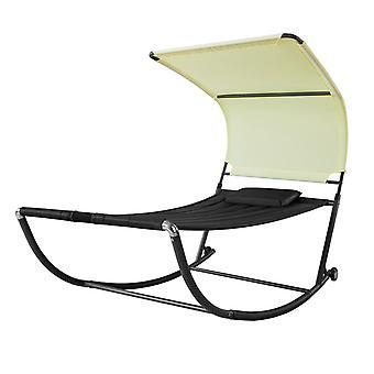 SoBuy Swing Sun Bed with Sun Shade Outdoor Garden,OGS44-SCH