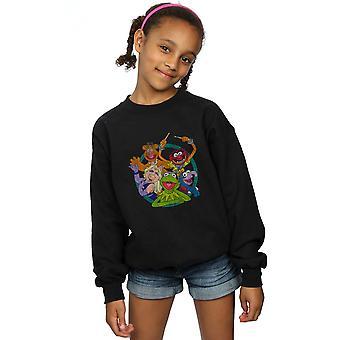 Disney Girls The Muppets Group Circle Sweatshirt