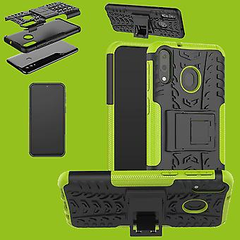 Für Samsung Galaxy A20e Hybrid Case 2teilig Outdoor Grün Tasche Hülle Cover Schutz