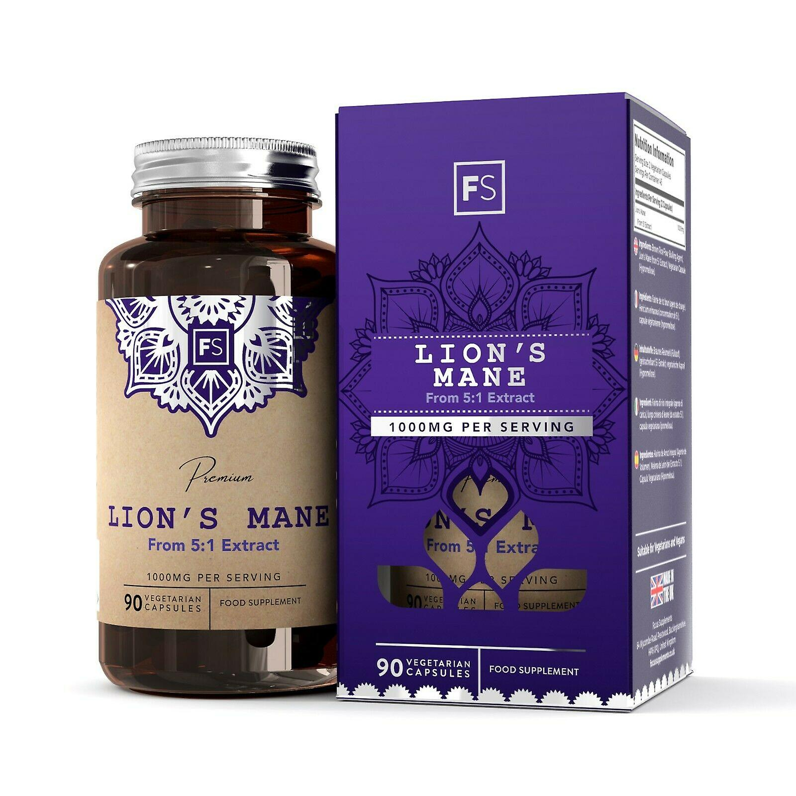 Lion's Mane (1000mg) 90 Capsules (Vitamins & Supplements , Special Supplements)
