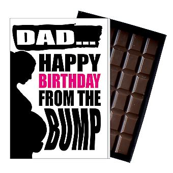 1st Birthday Gift For Dad to Be Daddy Funny Chocolate Present Card For Him 150
