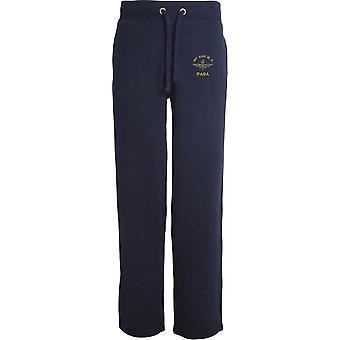 Parachute Regiment - My Dad - Licensed British Army Embroidered Open Hem Sweatpants / Jogging Bottoms