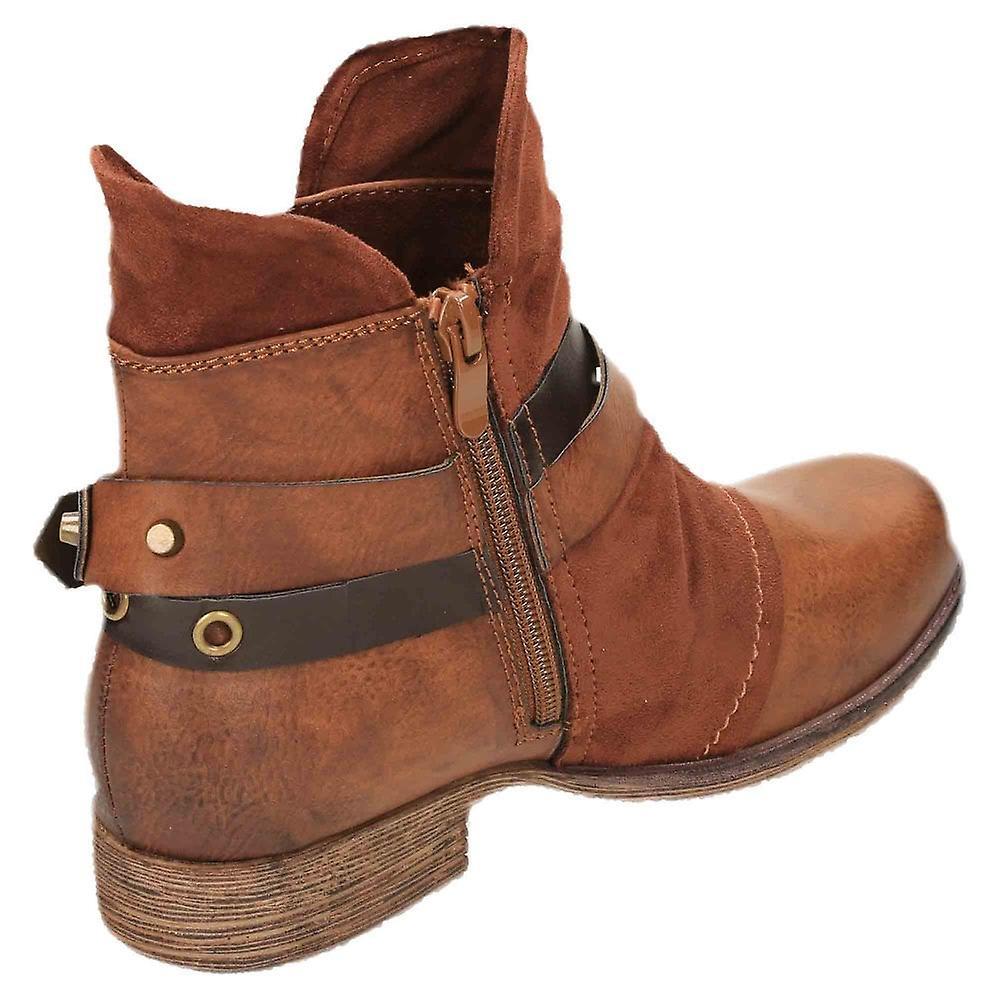 Rieker Chukka Flat Steampunk Ankle Boots 90268-22