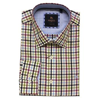 MAGEE Magee Purple Check Shirt 88939