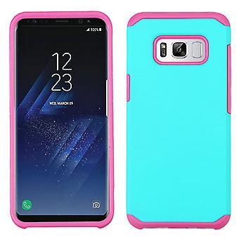 ASMYNA Petrol grün/Hot Pink Astronoot Telefon Protector Abdeckung für Galaxy S8 Plus