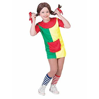 Naughty Göre Pipa Costume Kids Strong Girl Adventurer Children Costume