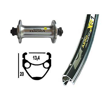 """אופניים-חלקים 28 """"גלגל קדמי Exal XR-1 + שימנו לטיגרה (QR)"""