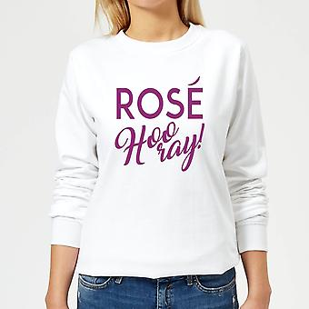 Rose Hurra for kvinner ' s Pullover-hvit