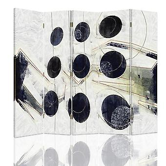 Divisor de habitación, 5 paneles, de doble cara, giratorio 360 ?? Lienzo, Nueve