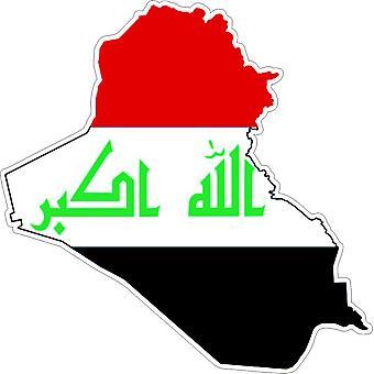 Pegatina adhesif coche vinilo bandera mapa Irak Irak