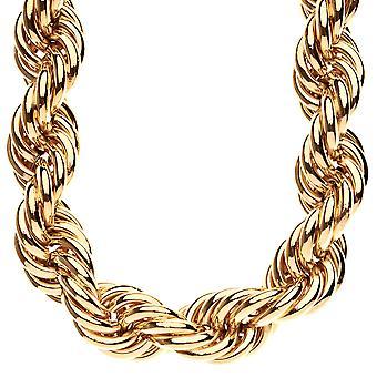 Tunga rep DMC stil HipHop halsband - 25mm guld