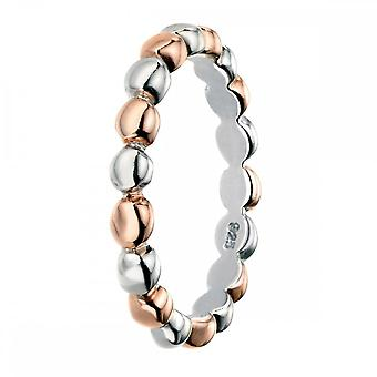 Elements Silver Rose Gold Multi Ball Ring R3462