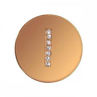Nikki Lissoni Sparkling I Small Gold Plated Coin C1262GSI