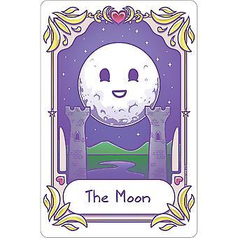 Deadly Tarot Kawaii The Moon Tin Sign