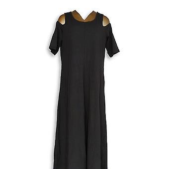 الحسناء كيم الحصى اللباس TripleLuxe Knit الأسود A305593
