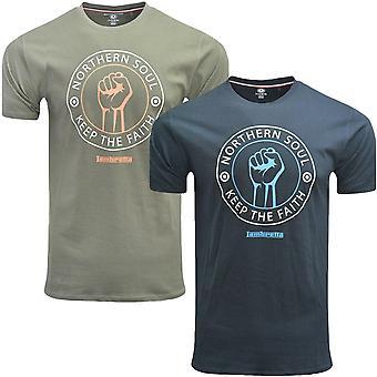 Lambretta Mens Keep The Faith Casual Short Sleeve Graphic Cotton T-Shirt Tee Top