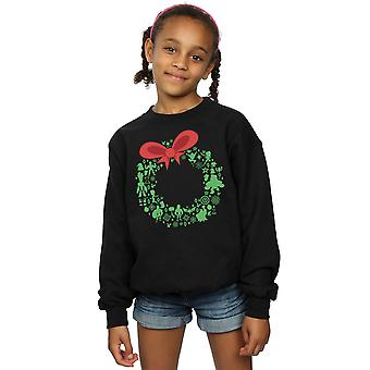 Marvel Girls Avengers Christmas Wreath Sweatshirt