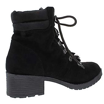 Rock & Candy Womens Saydie Faux Fur Lace Up Booties