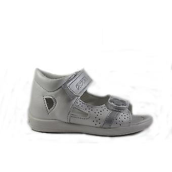 Ricosta Maja 3124000-810 wit leer meisjes gesloten terug verstelbare sandalen