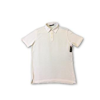 Agave Deni Radar polo in beige and white stripe