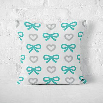 Meesoz Kissen - Bows&Hearts Turquoise
