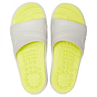 Crocs 205546 Reviva Slide Mens Sandals Pearl White/citrus