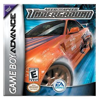 Need for Speed ondergronds GBA spel (GameBoy Advance)