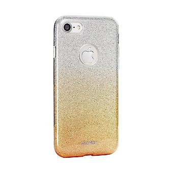 Case For iPhone 8 / IPhone 7 with Golden and Silver Glitter