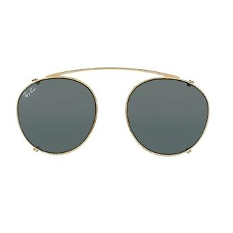 Ray-Ban Clip-On RB2180C 2500/71 Gold/Green Sunglasses