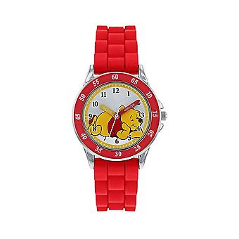 Children's Winnie The Pooh Red Analogue Watch