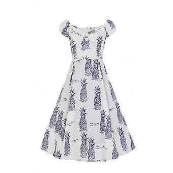 Collectif Vintage Women's Dolores Pineapple Doll Swing Dress