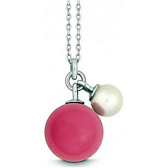 QUINN - Necklace - Silver - Pearl - Chalcedony - Freshwater - 27601996