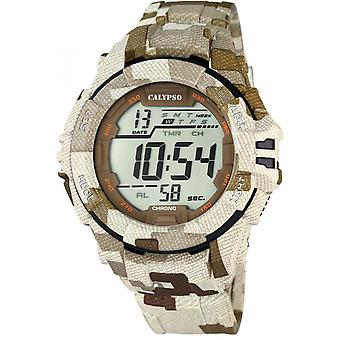 Titta på Calypso K5681-2 - Beige Chronograph Man