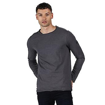 Regatta menns Karter II Coolweave bomull langermet T-skjorte