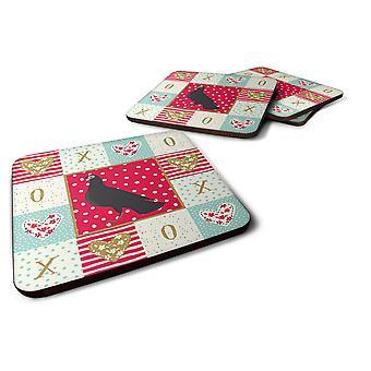 Set of 4 Budapest Highflyer Pigeon Love Foam Coasters Set of 4