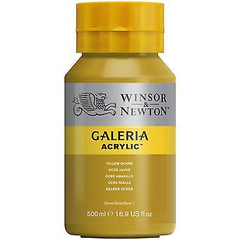 Winsor & Newton Galeria Acrylic Paint 500ml - Yellow Ochre
