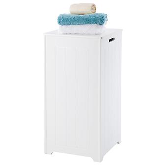 Truro Tall White Laundry Bin, Grande armoire de rangement de salle de bains