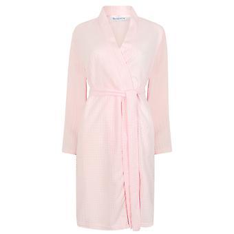 Slenderella HC3301 ženy ' s tkané ružové rúcho loungewear kúpeľňové šaty